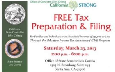 Free Tax Prep in Santa Ana
