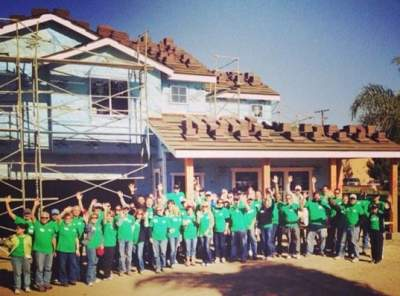 2013 Habitat for Humanity Leaders Build Day Group in Santa Ana
