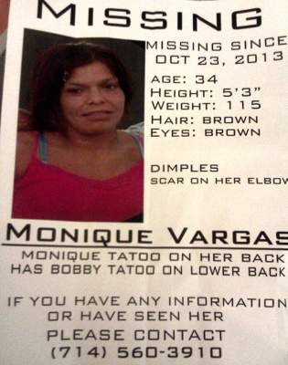 Missing Person, Monique Vargas