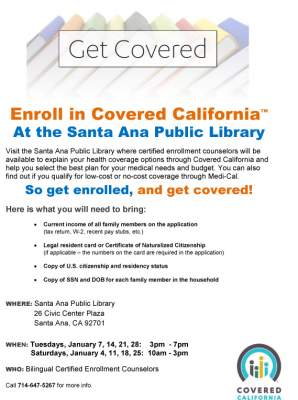 Covered California at the Santa Ana Library