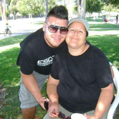 Ricky Cardenas and his mom