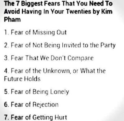 Kim Pham's 7 biggest fears