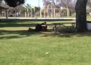 SAUSD school cop roughs up a kid