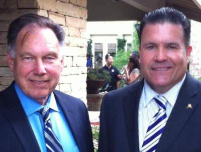 Santa Ana Planning Commissioner Sean Mill and Tony Rackauckas