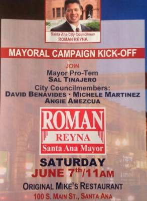 Roman Reyna mayoral campaign kick off