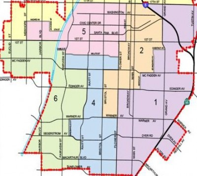 Santa Ana City Council Ward Map