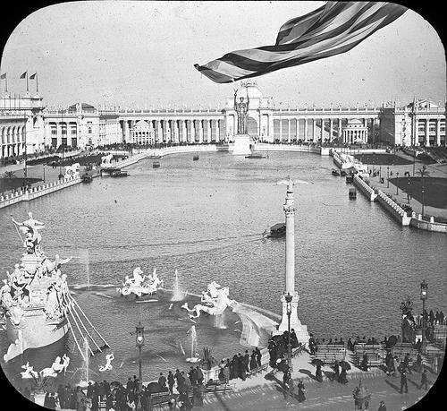 Chicago World's Columbian Exposition in 1893 Grand Basin