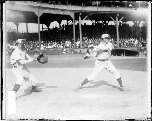 Frank Chance Chicago Cubs bats