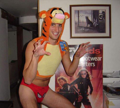 Halloween costume tiger