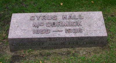 Cyrus Mccormick grave marker