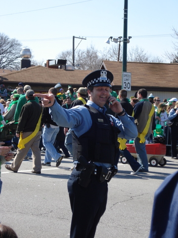 cop pointing