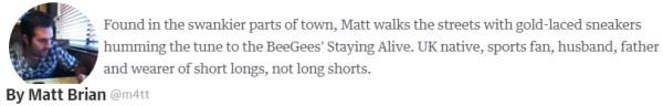 Matt Brian m4tt engadget