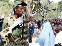 Ethiopian soldier, Kismayu, January 2007