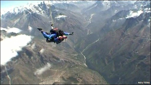 Skydiving over the Himalayas