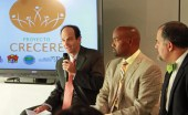 From left: Felipe Arbelez, medical director for Merck, Carlos Delgado and Mike Soto-Class.