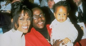 Baby Kristina Brown with the parents