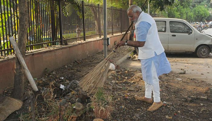 modi cleaning area