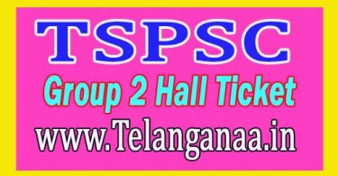 Telangana Group2 hall ticket download