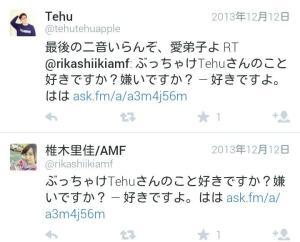 椎木里佳・tefu