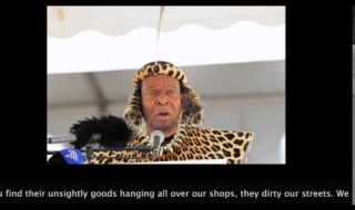 Zulu King Goodwill Zwelithini of SA publicly supports the attacks (VIDEO)
