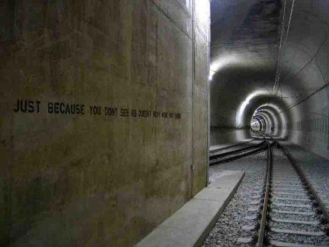 Es waren vor allem U-Bahn-Tunnel und Züge, die Graffiti-Sprayer im Revier für sich nutzten. Foto: Markus Wiese