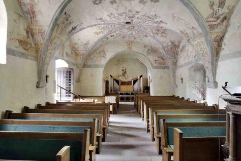 Der LWL hat die Wandmalereien in der Dorfkirche Bantrup als Denkmal des Monats ausgezeichnet. Foto: LWL/Nieland