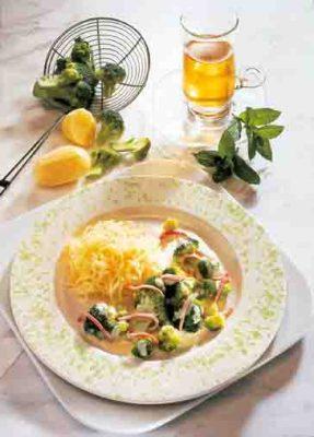 Kochen mit Kohl: Brokkoli mit Rahmsauce Foto: Wirths PR