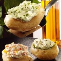 Gefüllte Kartoffeln mit Kräuterquark (cholesterinarm)
