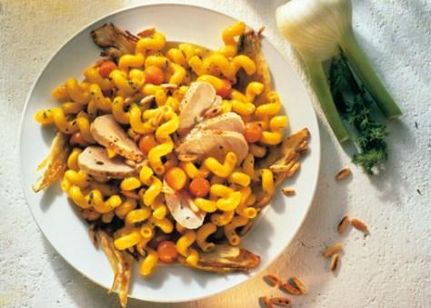 Nudeln mit Hähnchenbrust Foto: Wirths PR