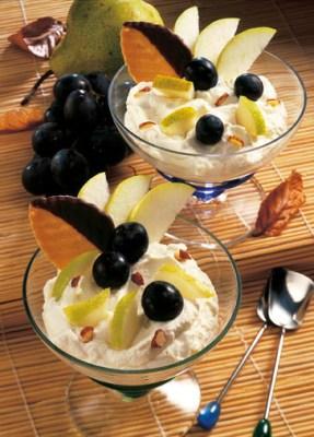 Quarkdessert mit Trauben (für Diabetiker) Foto: Wirths PR