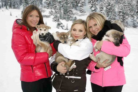 Simone Ballack, Regina Halmich und Magdalena Brzeska © Photo by Franziska Krug/Getty Images