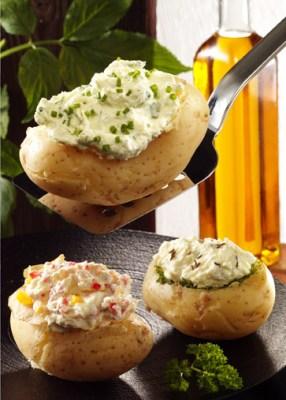 Gefüllte Kartoffeln mit Kräuterquark (für Diabetiker) Foto: Wirths PR