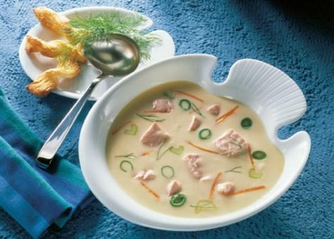 Schnelle Rezepte: Gourmet Fischsuppe mit Lachs Foto: Wirths PR