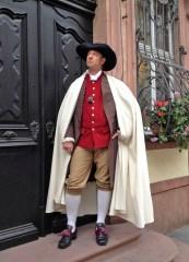 Wandlungsfähig: Tobias Kämmerer zeigt als Johann Wolfgang von Goethe welche Geheimnisse der berühmteste Sohn der Stadt Frankfurt am Main hatte. Foto: hr/Torben Hagenau
