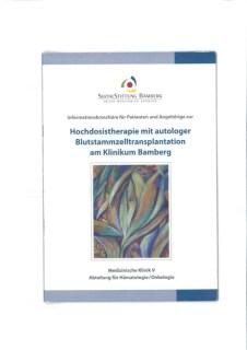 """Broschüre """"Hochdosistherapie mit autologer Blutstammzelltransplantation"""" der Sozialstiftung Bamberg"""