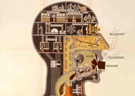 """Ausschnitt aus Fritz Kahns Plakat """"Der Mensch als Industriepalast"""". Foto: LWL"""
