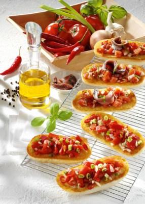 Schnelle Rezepte: Bruschetta picante Foto: Wirths PR