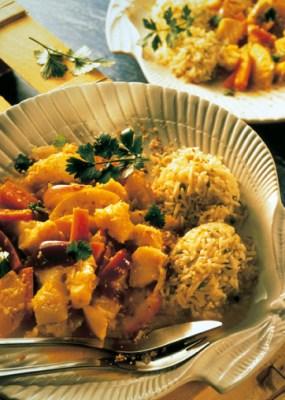 Reis-Rezepte: Fisch-Curry Foto: Wirths PR