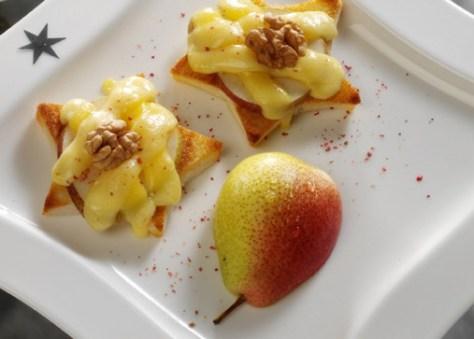 Käse-Rezepte: Käsetoast mit Birnen Foto: Wirths PR