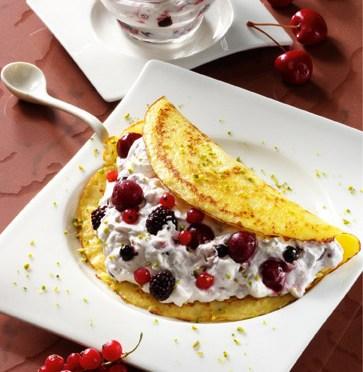 Pfannkuchen mit Früchten (laktosefrei) Foto: Wirths PR