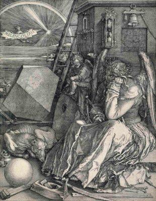 Albrecht Dürer (1471–1528) Melencolia I (Die Melancholie), um 1514 Kupferstich, 24,2 x 18,9 cm Städel Museum, Frankfurt am Main Foto: Städel Museum – ARTOTHEK