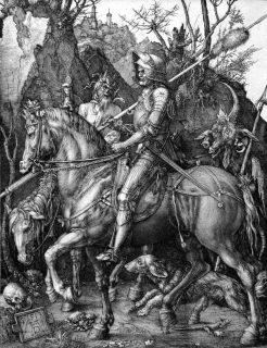 Albrecht Dürer (1471–1528) Der Reiter, 1513 Kupferstich, 25,9 x 20 cm Städel Museum, Frankfurt am Main Foto: Städel Museum – ARTOTHEK