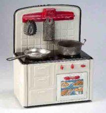 Altes Spielzeug. Küche für Kinder Foto: Hamaland-Museum