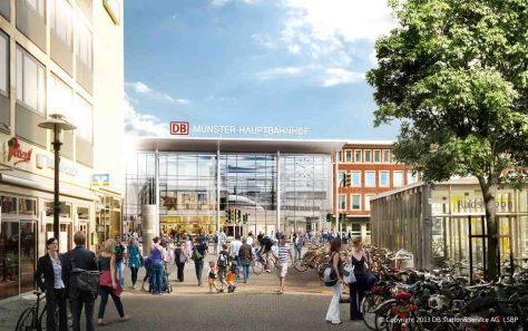 Hbf-Empfangsgebäude_Ansicht-Windthorststraße Grafik/Quelle: DB S&S AG, I.SBP