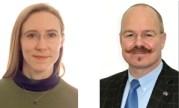 Dr. Carolyn van der Bogert und Prof. Dr. Harald Hiesinger Foto: WWU/Frank Bartschat