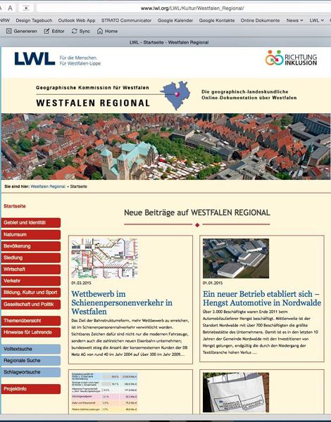 """Der LWL hat den Internetauftritt """"Westfalen Regional"""" überarbeitet. Foto: LWL"""
