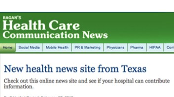 Ragan's Health Care News Features HealthNewsTexas.com