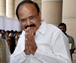 New Delhi: NDA candidate for Vice President Venkaiah Naidu, arrives to  cast his vote in the Vice Presidential Election, in New Delhi on Saturday.   PTI Photo by Manvender Vashist(PTI8_5_2017_000016a)