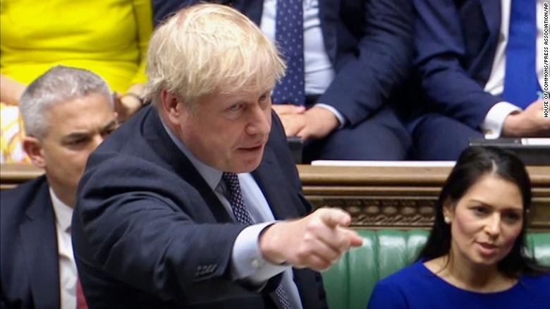 "Prime Minister Boris Johnson delivers a statement in the House of Commons, London, to update the House on his new Brexit deal after the EU Council summit, on what has been dubbed ""Super Saturday"" . PA Photo. Picture date: Saturday October 19, 2019. The House of Commons usually sits from Monday to Thursday, and on the occasional Friday. But on Saturday October 19 there will be an extraordinary sitting of Parliament - the first on a weekend since April 1982 - to discuss Boris Johnson's new Brexit deal. See PA story POLITICS Brexit. Photo credit should read: House of Commons/PA Wire"