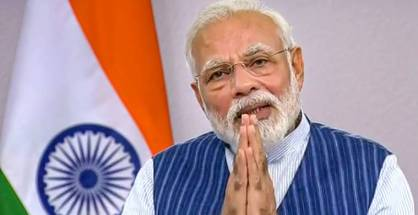 **EDS: VIDEO GRAB** New Delhi: Prime Minister Modi interacts with citizens of Varanasi amid nationwide lockdown, in the wake of coronavirus outbreak, via video conferencing, in New Delhi, Wednesday, March 25, 2020. (DD NEWS/PTI Photo)(PTI25-03-2020_000221B)